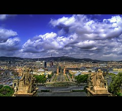 BARCELONA is powerful (christian&alicia) Tags: barcelona city sky urban clouds ciudad catalonia catalunya hdr montjuic ciutat nuvols mnac nuves flickrsbest platinumphoto aplusphoto d40x