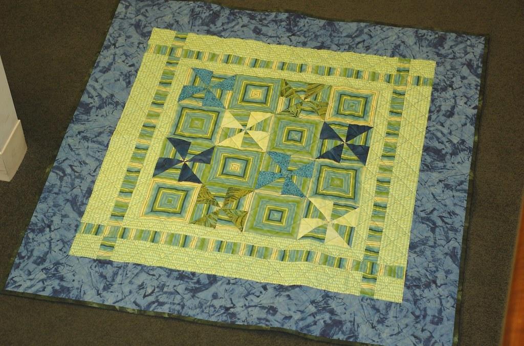 Stripey Baby quilt