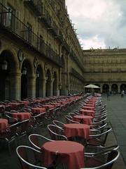 terraza en la plaza mayor