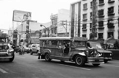 quiapo jeepney (click-the-shutter) Tags: blackandwhite film 35mm philippines rangefinder 35mmfilm manila ilforddelta400 yashica jeepney quiapo metromanila blackandwhitefilm quiapojeepney