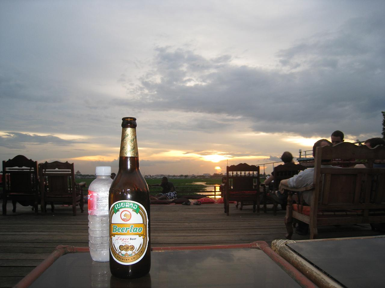 Phnom Penh's popular backpacker hangout is Boeung Kak Lake, where cheap accommodations are plentiful, and the sunset views go best with a cold beer.