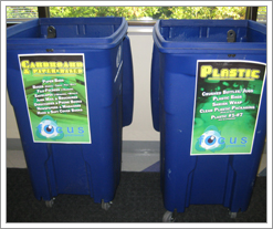 Quicken Loans recycle bins allow team members to recycle at work