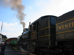 Shay #6 (The Ghostcop) Tags: county old railroad 6 mountain west tree heritage beautiful forest virginia big lima bell smoke scenic engine logging tourist steam wv works huge shay depot locomotive six loud cass whistle pocahontas excursion geared bygone