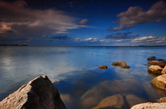 Lake Hefner (David Parks - davidparksphotography.com) Tags: sunset sun lake david fall love oklahoma water beauty clouds is nikon rocks long exposure pretty god good parks excited series p okc filters edmond density neutral cokin d40x goldstaraward damniwishidtakenthat