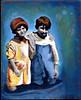 Wading Together (kimtedrow) Tags: collage mixedmedia etsy tedrow paintover