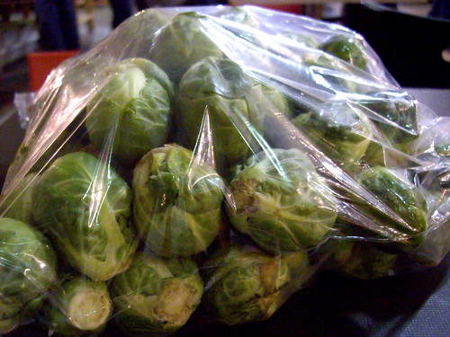 3+ lbs of Brussels sprouts!