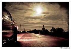 Moonlight Truck (Jesse James Photography) Tags: road moon reflection texture clouds photoshop truck dark nikon country dodge moonlight tamron dakota adobelightroom tamron1750 nikond300 dodgedakotanight