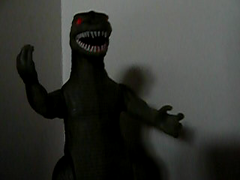 aafad 149/365 it's comin' right for us! (lamont_cranston) Tags: toy toys actionfigure godzilla sound lame gojira limp movingpictures giantlizard anactionfigureaday aafad limppronouncedlimp
