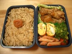 Teriyaki chicken wings bento (skamegu) Tags: food rice broccoli bento japanesefood  teriyaki     bentos