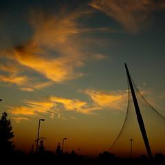 stubbing the sky (yaari) Tags: bridge sunset sky clouds landscape interestingness pentax jerusalem explore strings soe   yaari k10d shieldofexcellence k20d