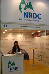 Cindy at the NRDC booth