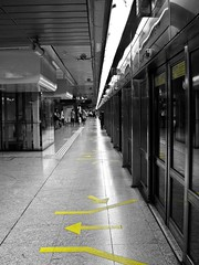 Lines ₪ [Explored] (Naina Iqbal) Tags: blackandwhite bw canon singapore perspective powershot mrt naina marinabay g9 explored canonpowershotg9 powershotg9 theworldseenfromthepowershotg9 hunaina nainaphotography