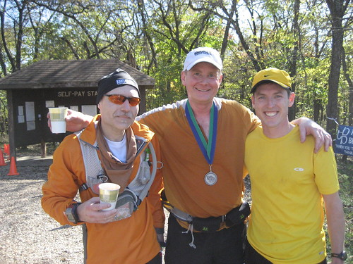 Jim Megerson, Ben Holmes, Ray Millard Post-finish