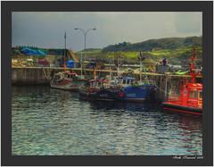 llanes (Almudena Raya) Tags: espaa mar spain agua barcos pueblo iglesia asturias paisaje nubes hdr llanes spagne samsungs830