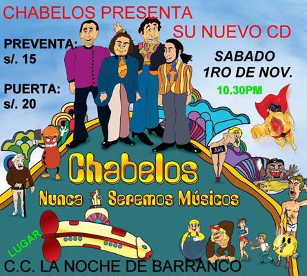 Afiche Chabelos La Noche de Barranco