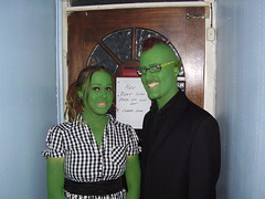 Contrary to rumour, it is easy being green... (the_dan) Tags: green halloween mike dress kelly fancydress elves mohican goblins pointyears