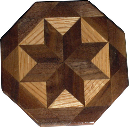 Walnut and Oak Trivet