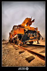 Machine.. (A.Alwosaibie) Tags: light train nikon iron machine railway spot vehicle tug trailer ksa d60 sigma1020mm   alhasa              alhofuf