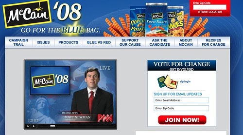 McCain – Go for the BLUE bag by you.
