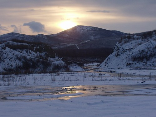 cycling through  Siberia in winter