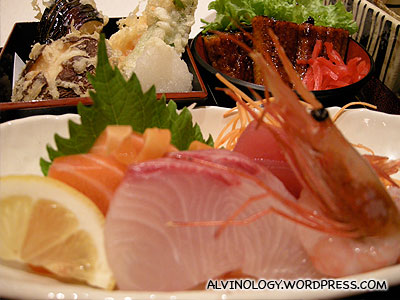 Small serving of sashimi