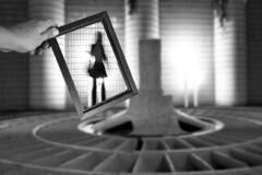 Search for the right angle (edouardv66) Tags: longexposure light shadow people bw woman girl backlight switzerland blackwhite nikon hand suisse geneva bokeh sigma blurred nb frame genève turbine noirblanc 2470 nikonsigma d700