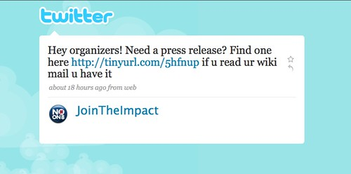 Join the impact on twitter