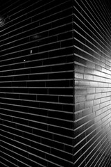 (eyrennay.shots) Tags: light white abstract black geometric lines wall tile noir perspective indoor artificial tiles mur reflexion blanc lignes abstrait carrelage gomtrique