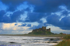 Wet n Wild...... (law_keven) Tags: ocean winter sea wild england sky castle water clouds landscape windy atlantic northumberland bamburgh bamburghcastle explore500