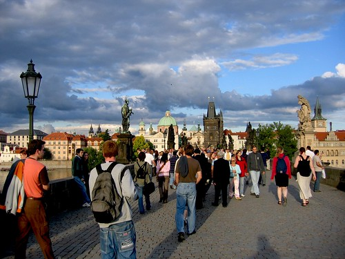Charles Bridge Crowd