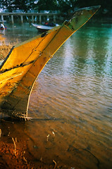 Parked for good (58830037) (Fadzly @ Shutterhack) Tags: travel vacation holiday abstract hot color rot abandoned film nature analog mouth river landscape asian boats gold boat wooden seaside fishing marine asia village kodak decay malaysia tropical vista tropic deathvalley analogue manual paysage retired  90mm seashore asean  decadence terengganu equator dorp humid kodakgold100 landschap marang wetzlar aldeia mys   aldea elmarit maleisi    elmaritr sooc  leicar6  rsystem shutterhack  leicasummicronr35mmf2e55