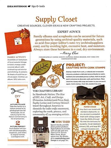 Country Living Nov 08, Fall Crafts
