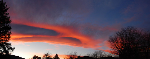 Sunset Photomerge, Boulder, Colorado, 18 November 2008