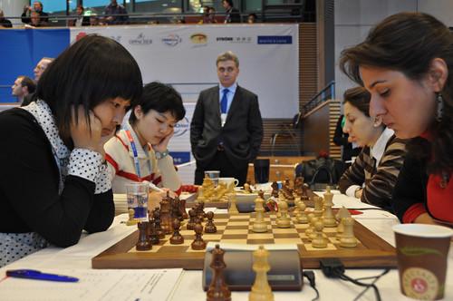 Ju Wenjun and Shen Yang versus Maia Lomineishvili and Javakhishvili
