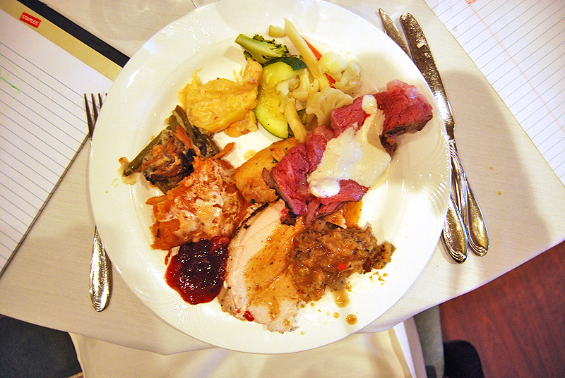 Thanksgiving Dinner Plate