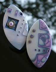 French Lavender (julie_picarello) Tags: house yellow silver beads julie jewelry epoxy resin rivet gane mokume picarello