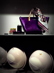 Lady in  purple (Weda3eah*) Tags: white 3 classic me colin by lady scarf germany louis all purple wallet balls bracelet chic miss handbag vuitton lv qatar weda3eah