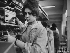 Egyptian Woman working in the TeleMisr factory in 1960s; picture by Kodak Agfa on Flickr