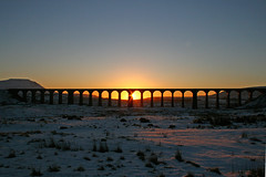 Ribblehead Viaduct (Ian Lambert) Tags: bridge winter sunset snow cold frozen yorkshire north viaduct ribblehead whernside forst supershot mywinners whohoo goldstaraward searchthtbest