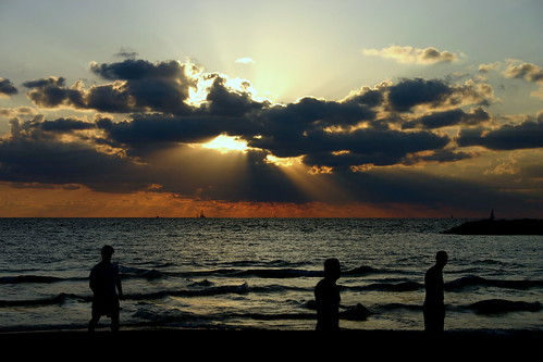 Sunset on Tel Aviv beach 7
