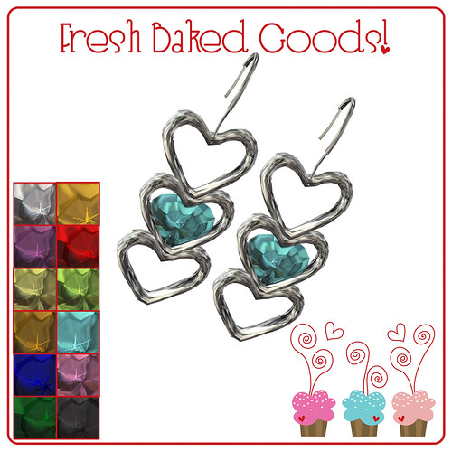 ~*FBG*~ NEW FREEBIE - Conversation Hearts Antique Silver Earrings