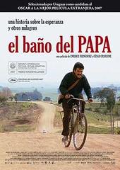 El baño del Papa afiche mediano
