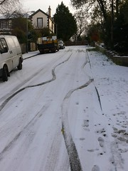 Slippery road at Appley (naturenet.net) Tags: road snow slippery wight skid iow ryde appley