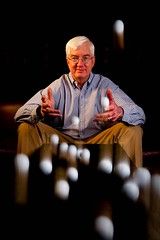 Bill Morgan - Master of Golf Balls (Photosmudger) Tags: lighting portrait magazine golf nikon published flash balls location ambient setup softbox titleist strobe manfrotto lightroom bowens strobist