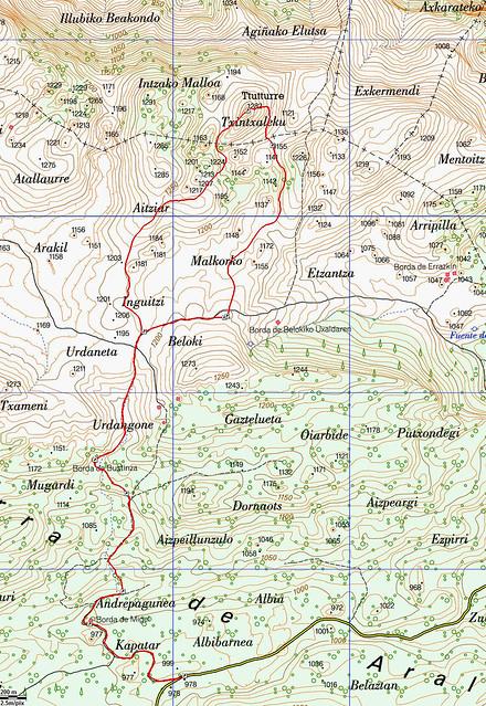 Mapa Ttutturre desde Albi