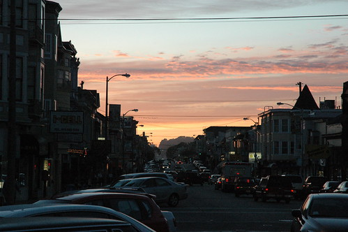 Sunset over Geary