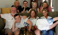 the family as they would be (Haunted E) Tags: family dog angel punk dad sister brother uncle pat father daughter jim son tyler couch aunt niece nephew paula taylor sandee erik tracey patty jaq