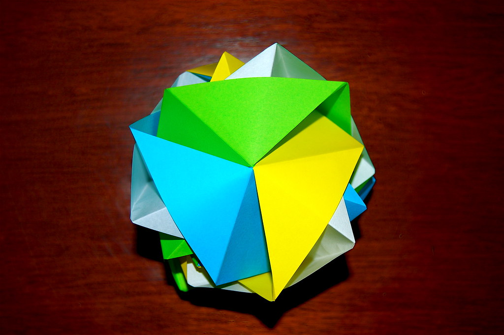 Open Sonobe Petal Cube Jbaylies Tags Origami Modular