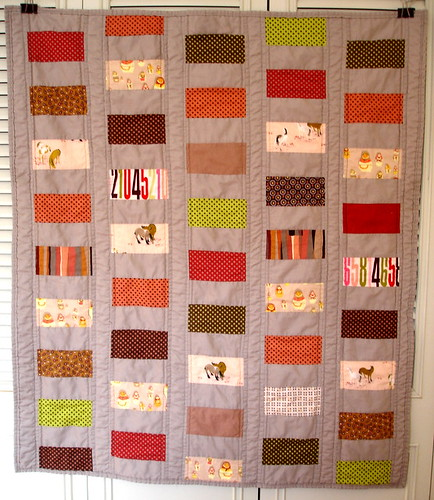 baby quilt - modified coin quilt