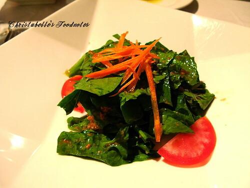 月之義大利菠菜沙拉